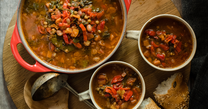 Hearty Piquanté Pepper Veggie Lentil Soup Recipe (Vegetarian)