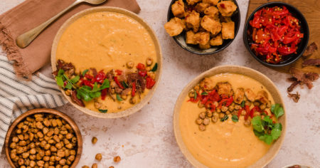 Moroccan Style Butternut, Chickpea & PEPPADEW® Sweet Piquanté Pepper Soup Recipe